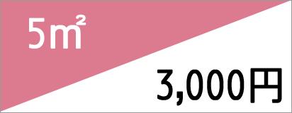 5m2 3,000円